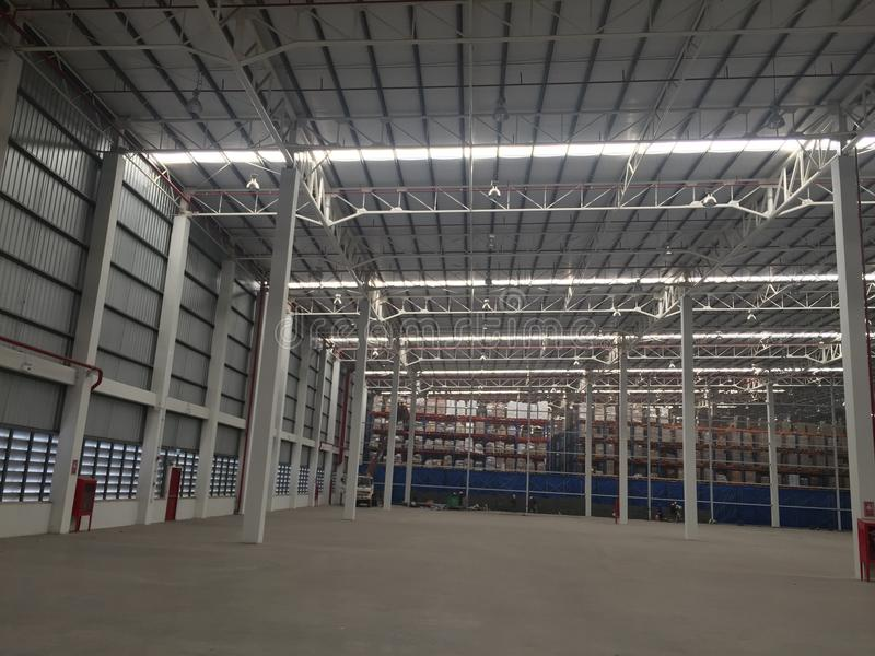 A warehouse is a commercial building for storage. A warehouse is a commercial building for storage of goods. Warehouses are used by royalty free stock images