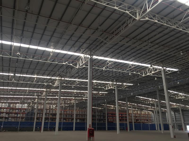 A warehouse is a commercial building for storage. A warehouse is a commercial building for storage of goods. Warehouses are used by royalty free stock photography