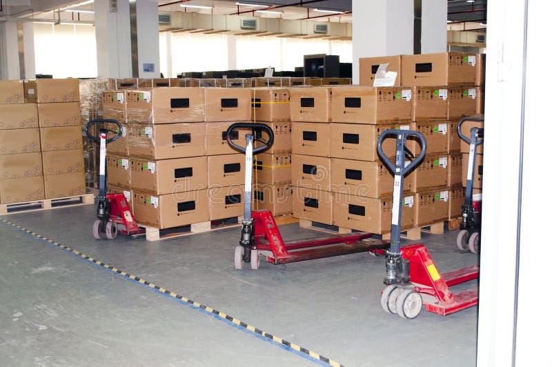 At a warehouse royalty free stock images