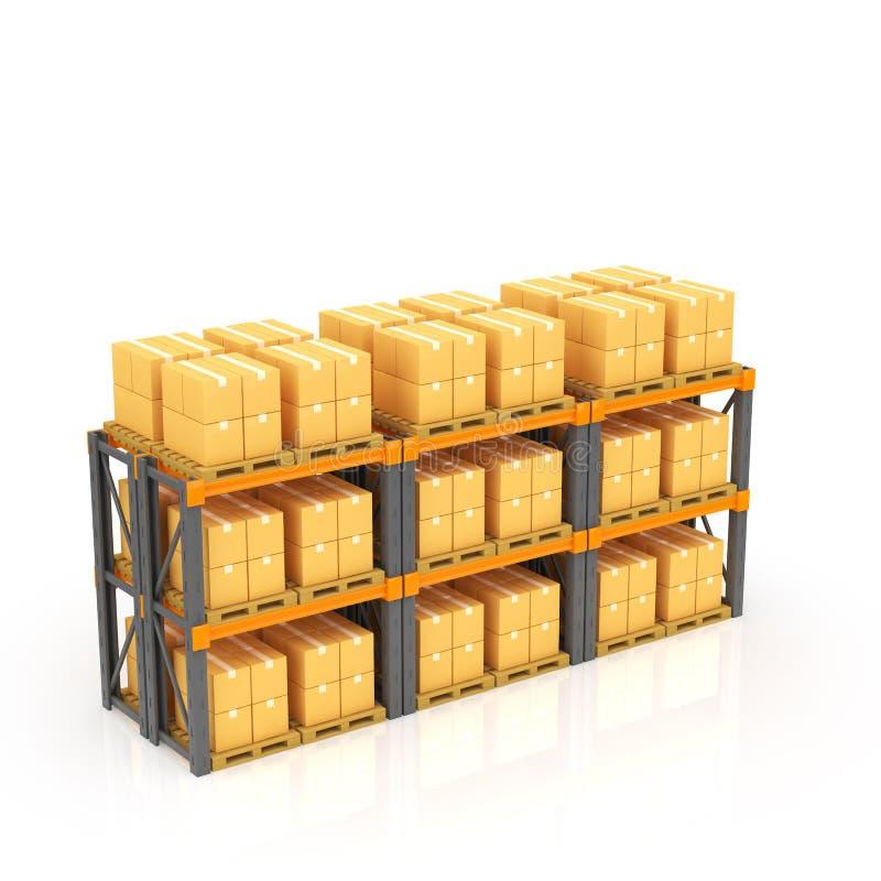 Warehouse stock de ilustración