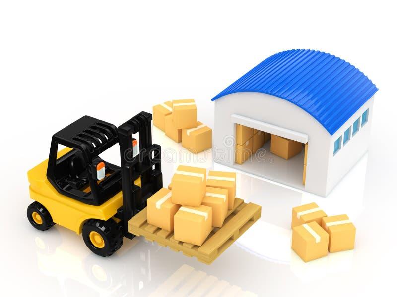 Warehouse ilustración del vector