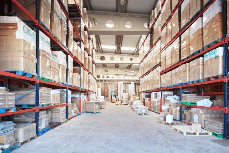 Warehouse stock image