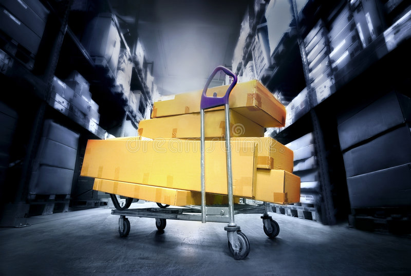Download Warehouse stock photo. Image of compartment, merchandise - 4045072