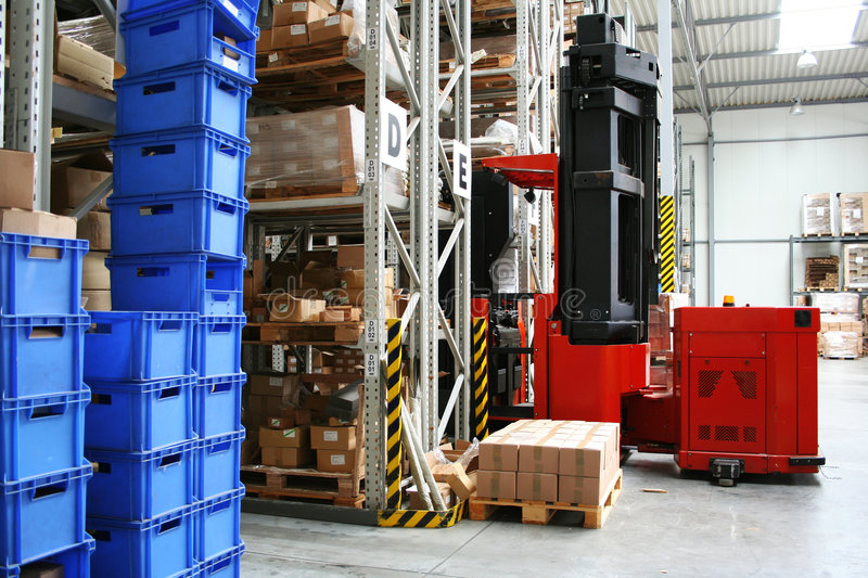 Download Warehouse stock image. Image of industry, stack, merchandise - 8014093