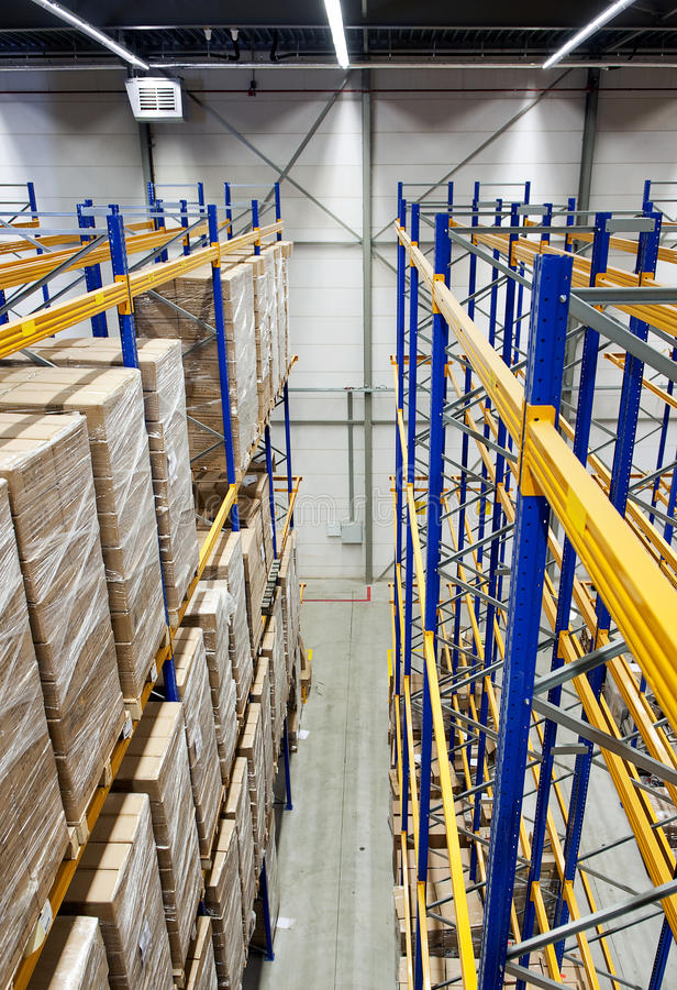 Download Warehouse from above stock image. Image of cardboard - 14739295