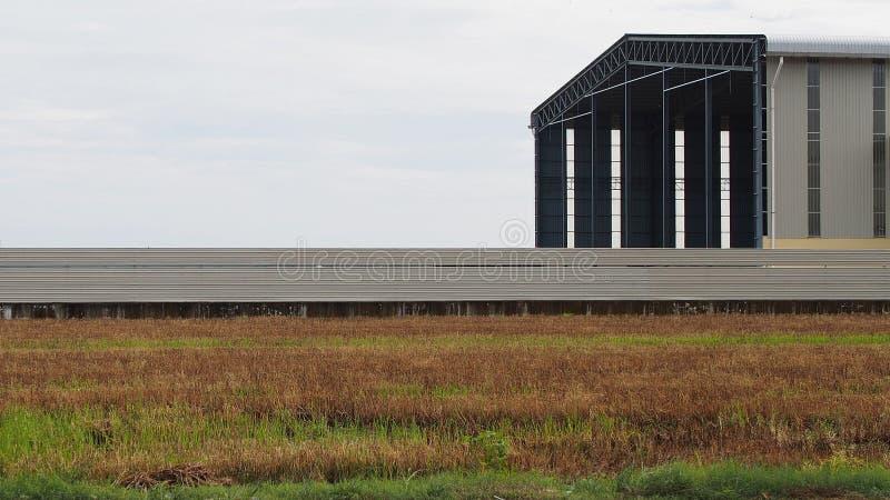 Warehouse agrícola para el arroz fotografía de archivo