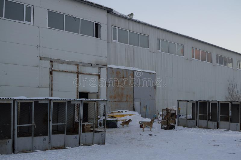 Warehouse in Astana, Kazakhstan. Warehouse in Winter in Astana, Kazakhstan stock images
