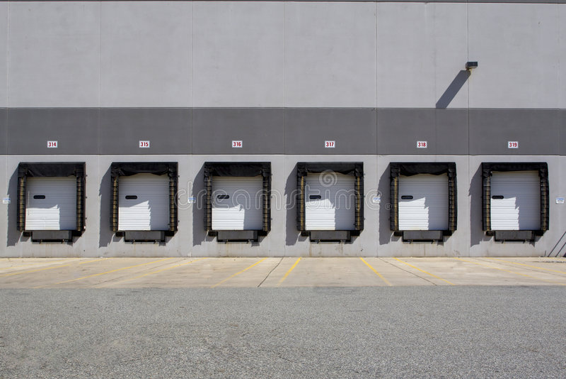 Download Warehouse bays stock image. Image of trucking, semi, warehouse - 2381447