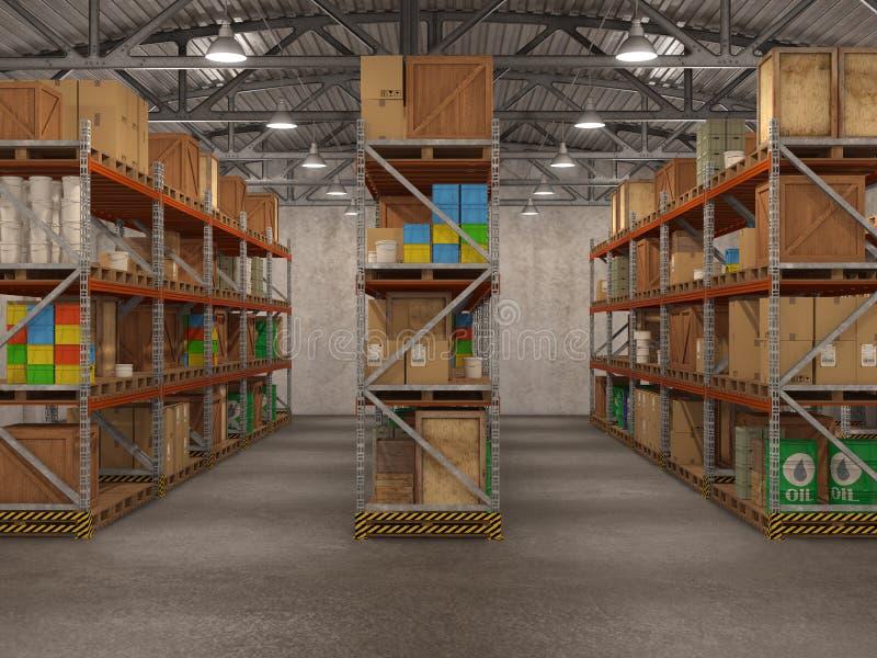 Warehouse, royalty free illustration
