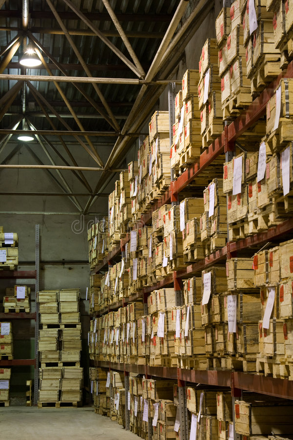 Download Warehouse with boxes stock photo. Image of corridor, factory - 5443374