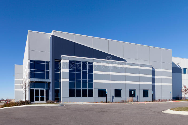 Warehouse Building. With a blue sky royalty free stock images