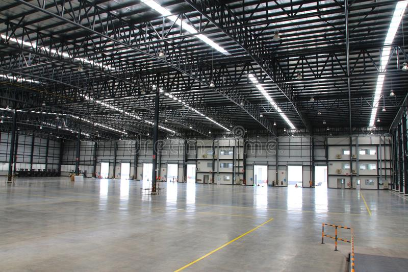 A warehouse is a commercial building for storage of goods. Warehouses are used by manufacturers, importers, exporters, wholesalers, transport businesses royalty free stock photography
