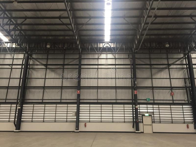 A warehouse is a commercial building for storage of goods. Warehouses are used by manufacturers, importers, exporters, wholesalers, transport businesses royalty free stock images