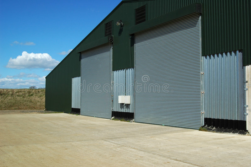 Warehouse and Courtyard royalty free stock photos