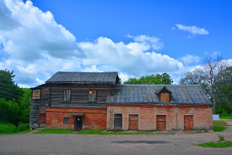 Warehouse del hospital en la ciudad de Ruza, región de Moscú, Rusia fotografía de archivo