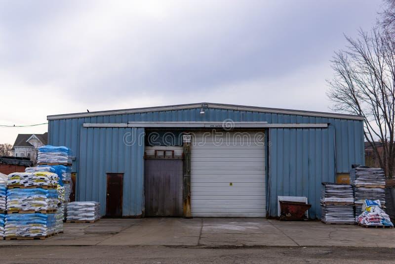Warehouse en Rochester, Michigan foto de archivo
