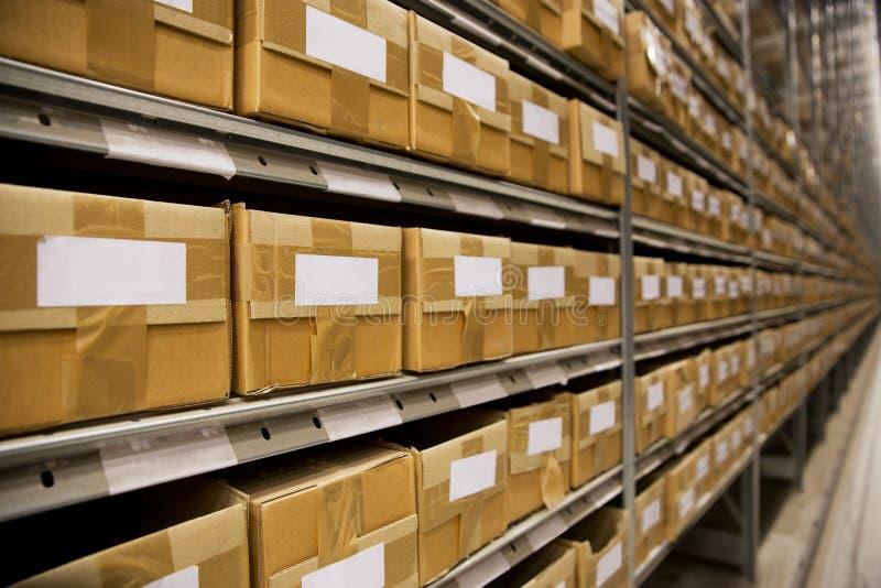 Warehouse environment stock photo