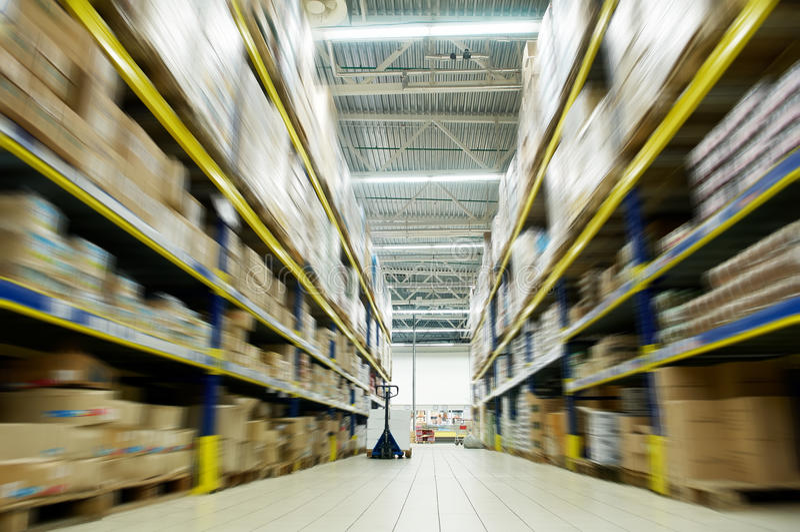 Warehouse food depot stock image