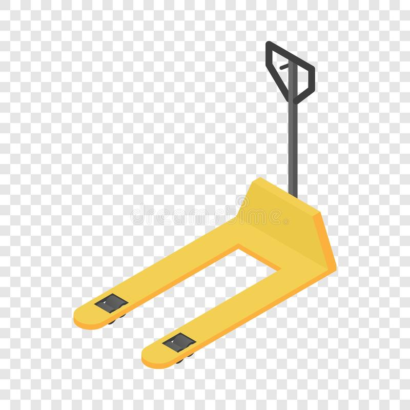 Warehouse forklift icon, isometric style. Warehouse forklift icon. Isometric of warehouse forklift vector icon for on transparent background royalty free illustration