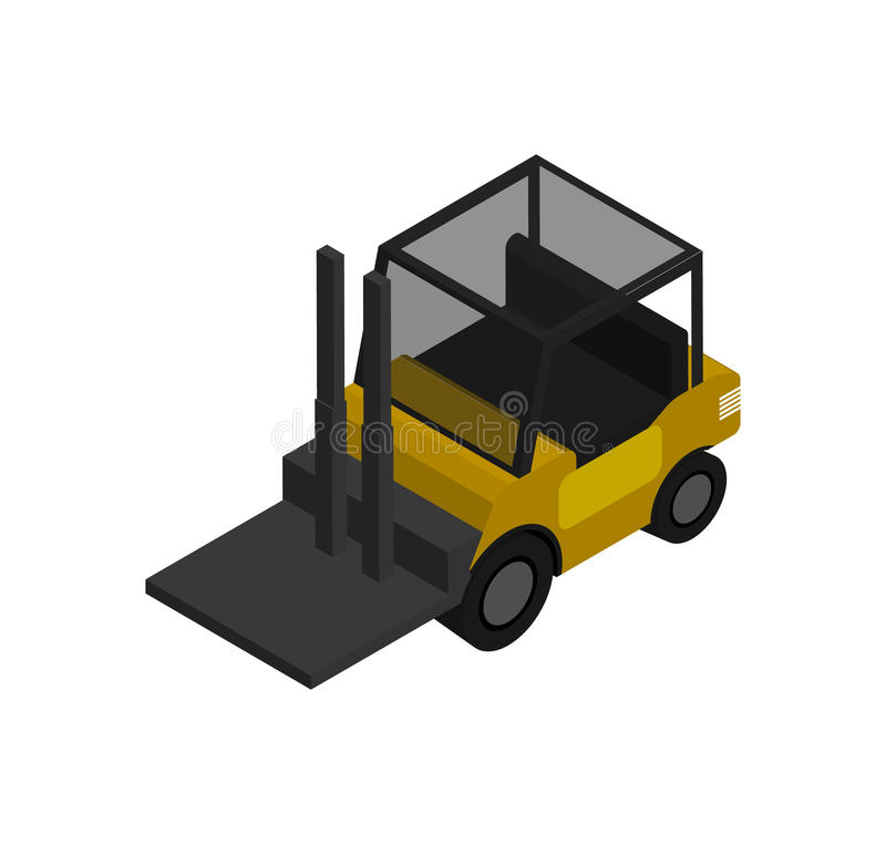 Warehouse forklift isometric vector icon vector illustration
