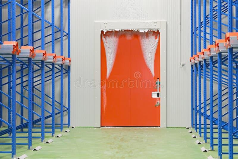 Warehouse freezer royalty free stock image