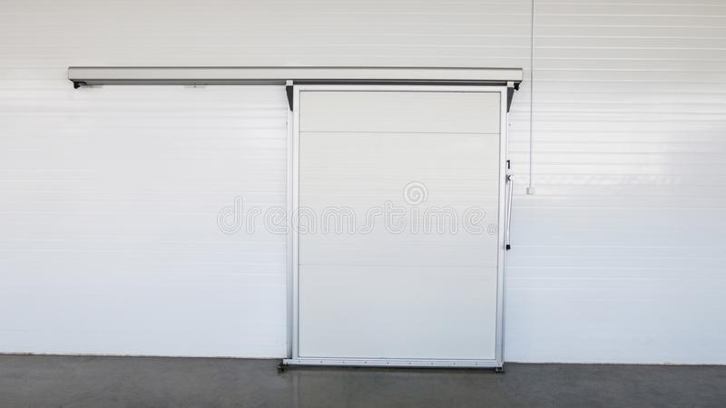 Warehouse freezer in the factory stock photos
