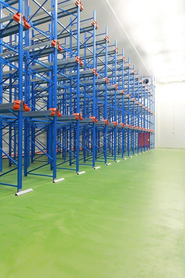 Warehouse freezer interior royalty free stock photography