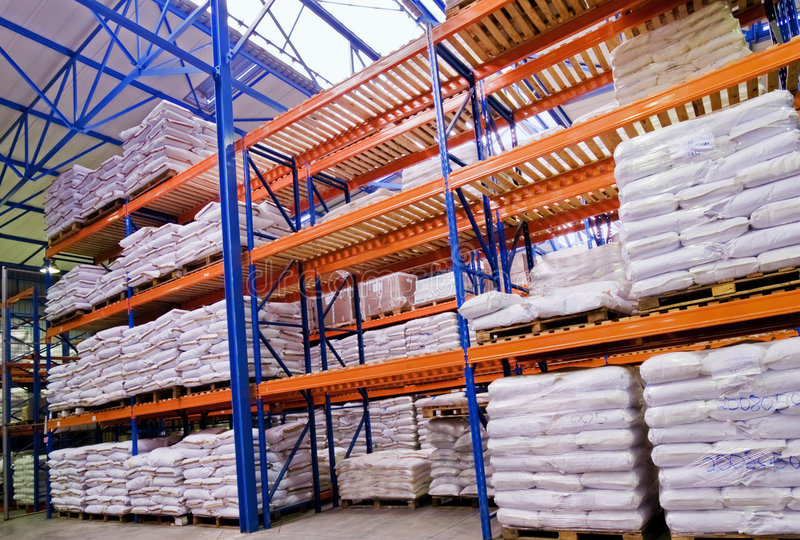 Warehouse with goods royalty free stock photos