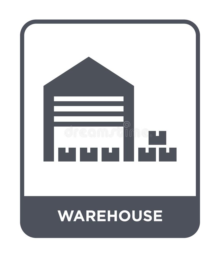 Warehouse icon in trendy design style. warehouse icon isolated on white background. warehouse vector icon simple and modern flat. Symbol for web site, mobile royalty free illustration