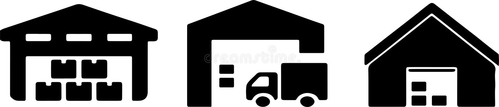 warehouse icon on white background royalty free illustration