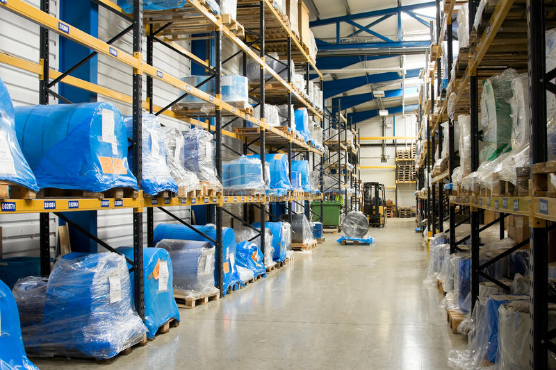 Download Warehouse interior stock image. Image of stack, large - 10059085
