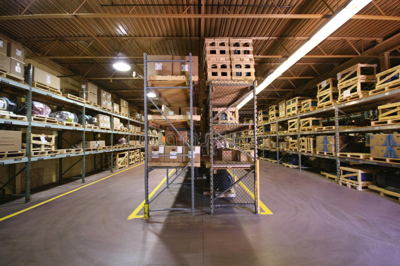 Warehouse Interior stock photo