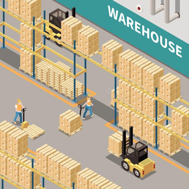 Warehouse Isometric Illustration royalty free illustration
