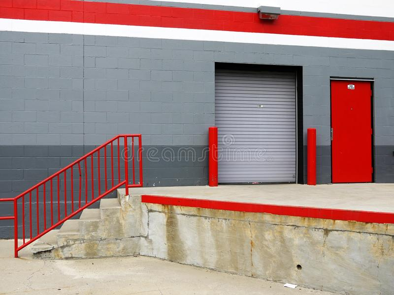 Download Warehouse: Loading Bay Steps Stock Photo - Image of grey, roller: 19816470