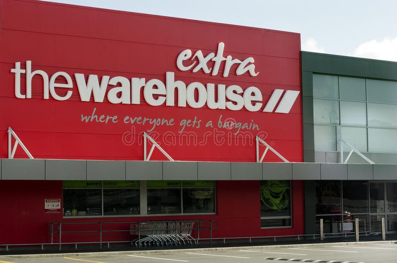 The Warehouse - NZ Discount Store Retailer. AUCKLAND, NZ - APRIL 25:The Warehouse on April 25 2013 in Auckland, New Zealand.It's the largest discount store royalty free stock photo