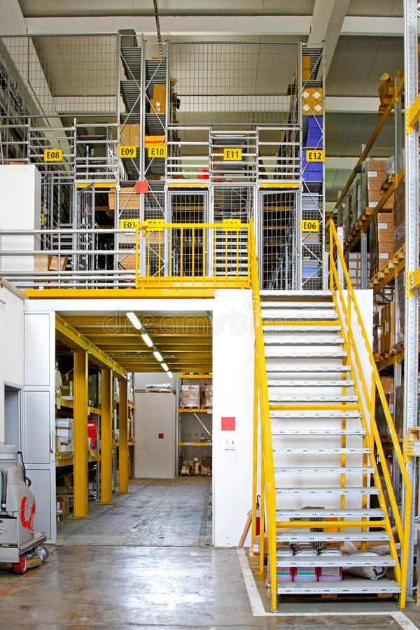 Warehouse rooms. Warehouse interior with safety cage rooms royalty free stock photography