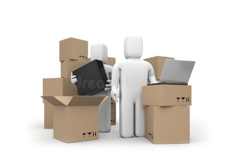 Warehouse services concept vector illustration