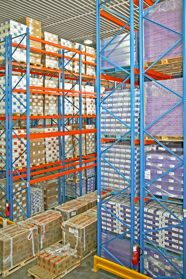 Warehouse shelf stock photography