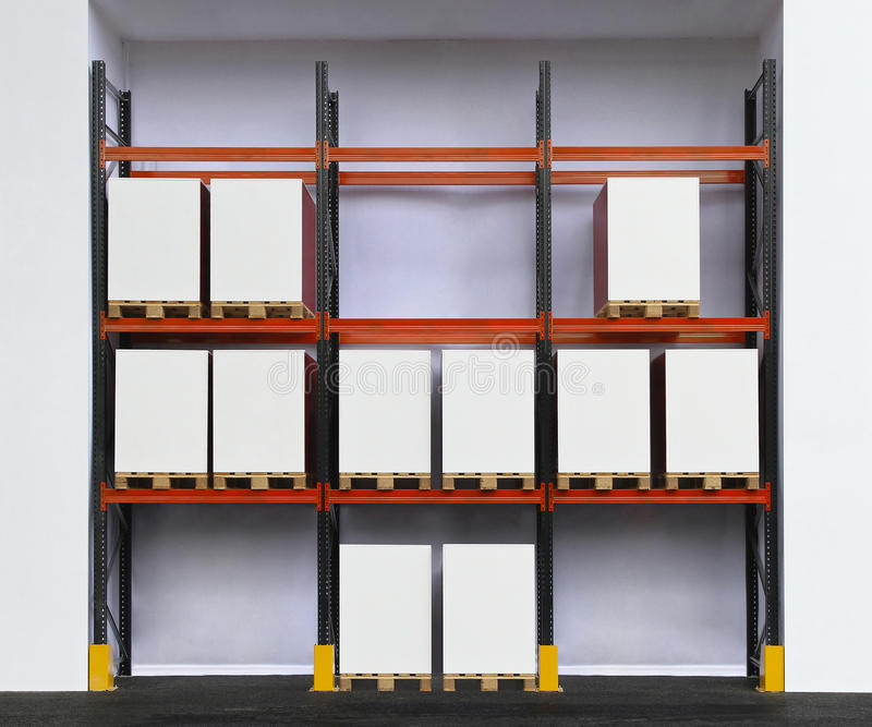 Warehouse Shelf royalty free stock photo