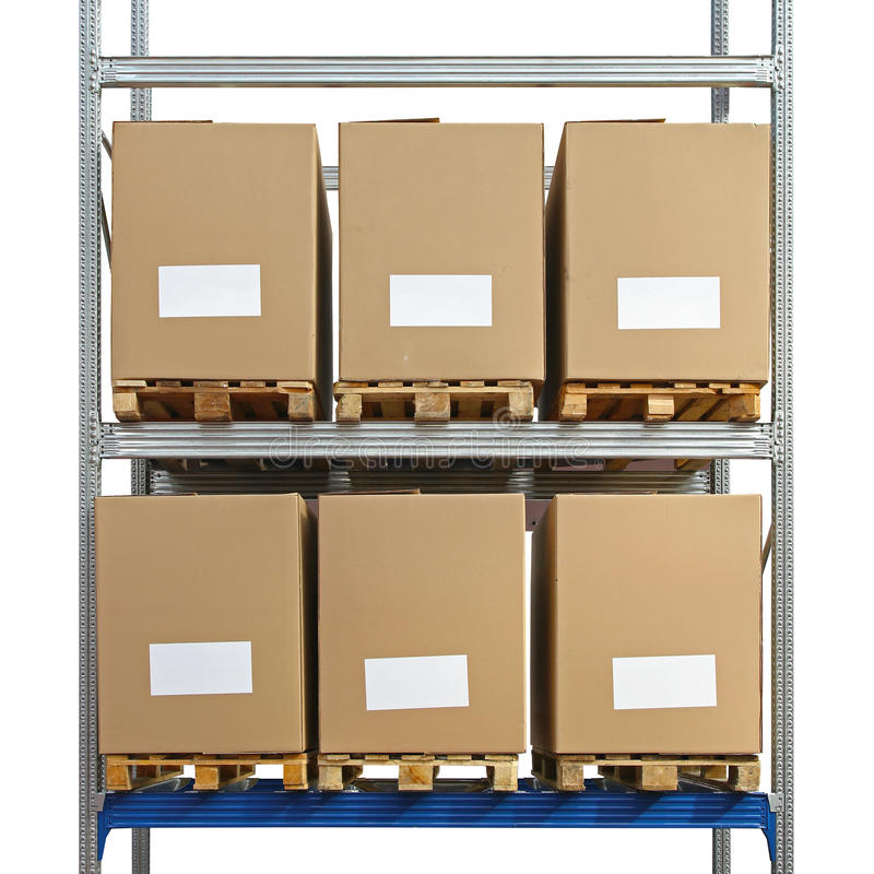 Download Warehouse shelving boxes stock photo. Image of shelf - 39504536