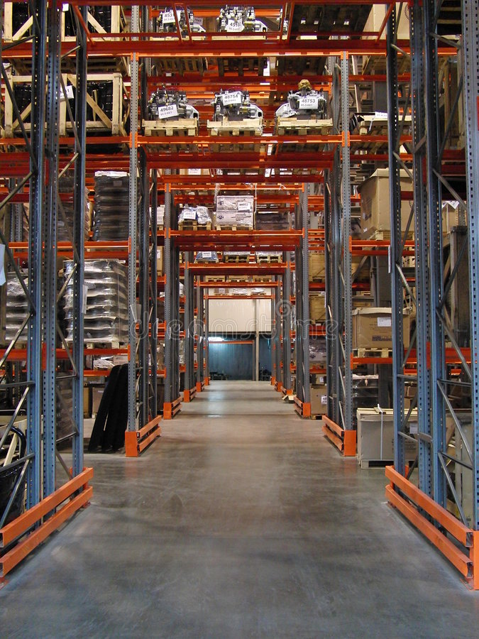 Warehouse of spare parts royalty free stock photos