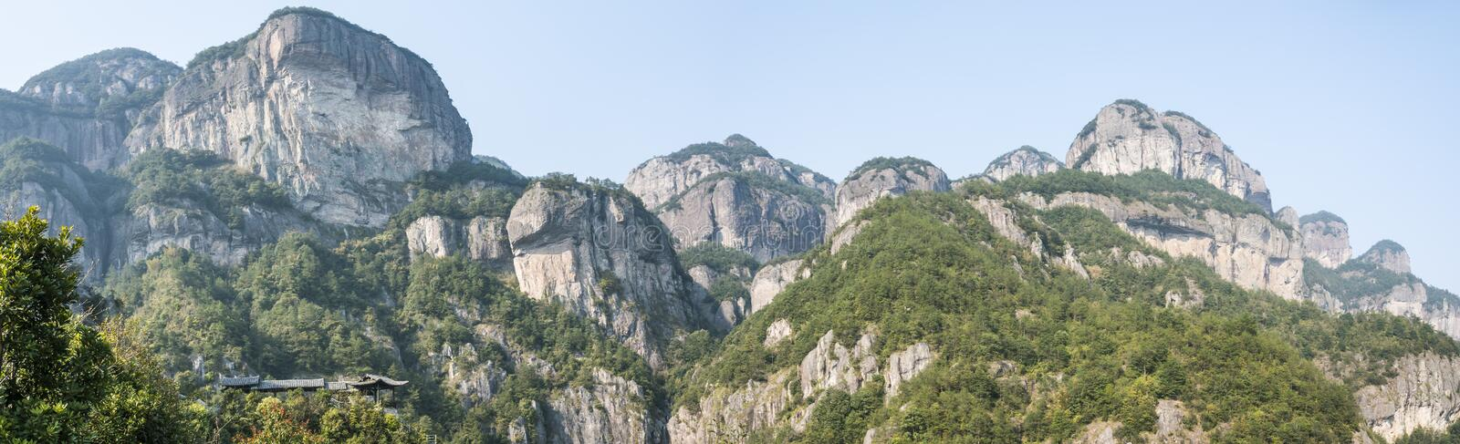 The Warehouse under The Cliff (Yaxiaku) Scenic stock photography