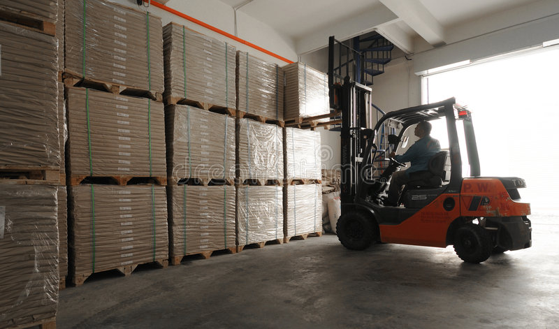 Warehouse worker royalty free stock images