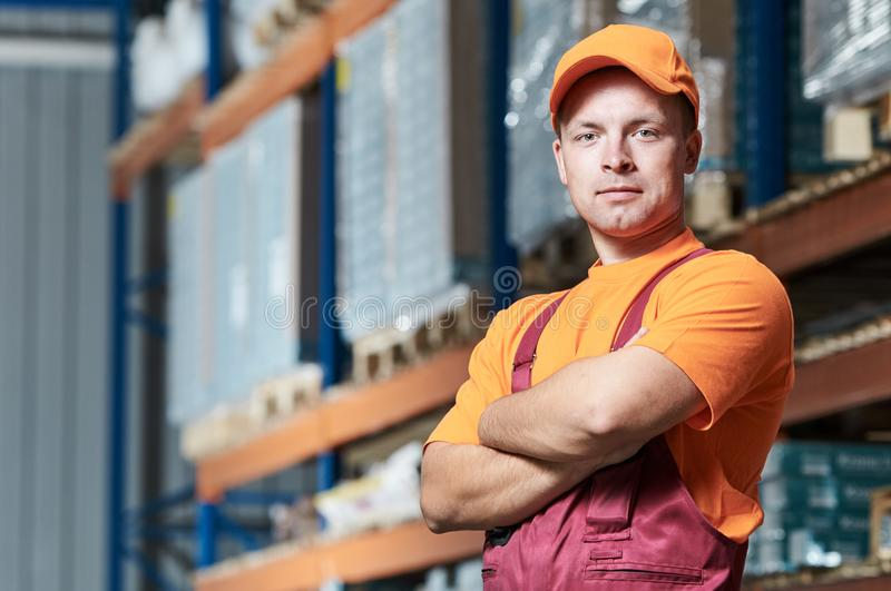 Warehouse workers portrait stock image