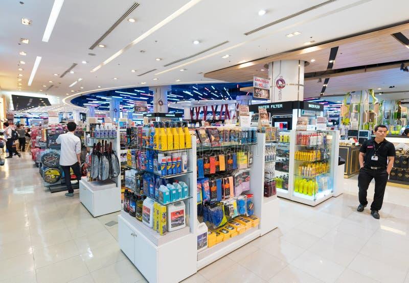 Waren für Autopflege, Siam Paragon-Mall, Bangkok lizenzfreie stockfotos