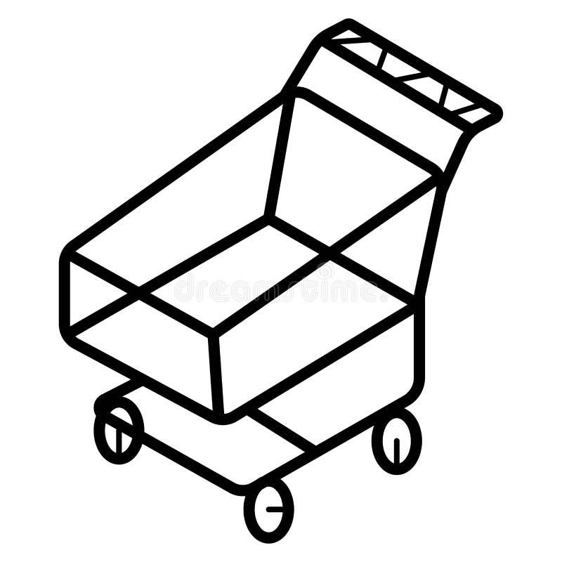 Warenkorbikonen-Vektorillustration vektor abbildung