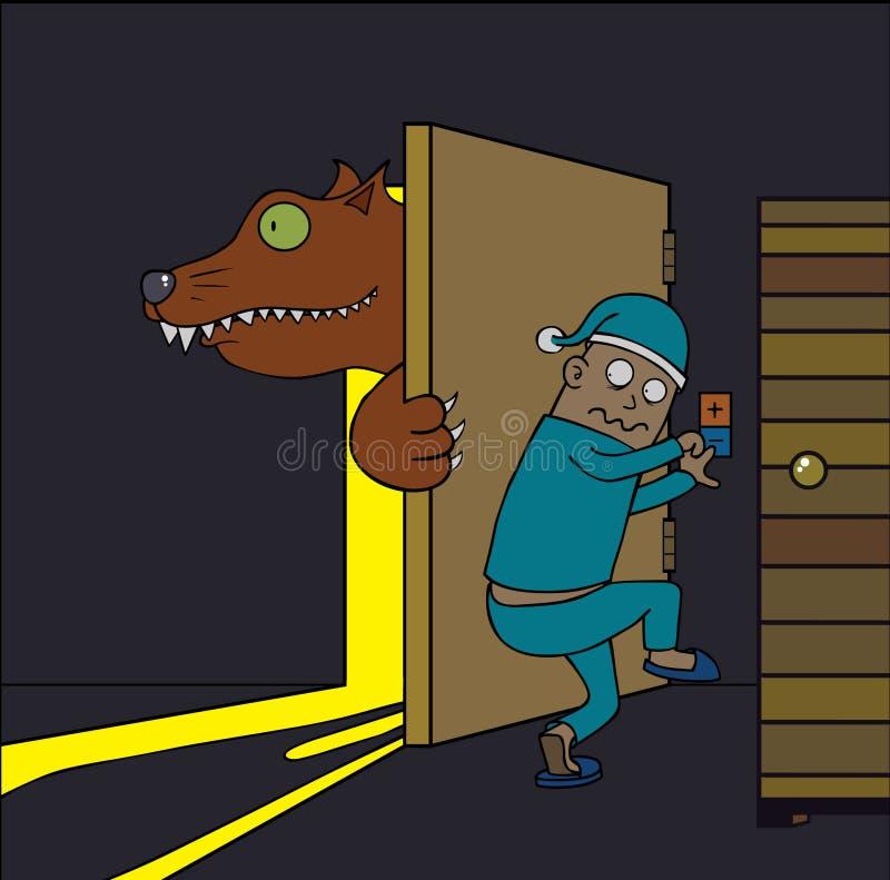 Warewolf em minha casa ilustração stock