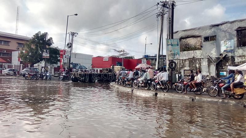 Warf Road Apapa ,Lagos Nigeria royalty free stock photo