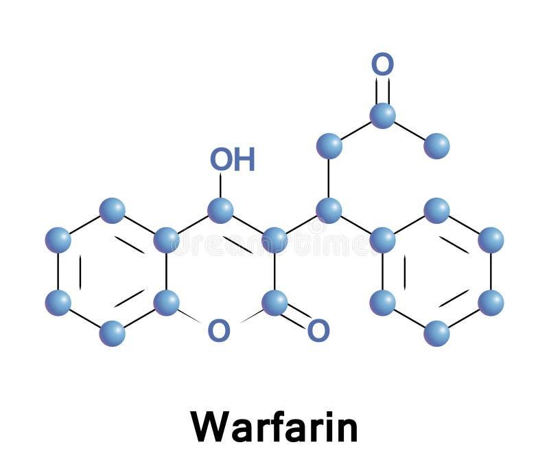 Warfarin anticoagulant blood thinner stock illustration