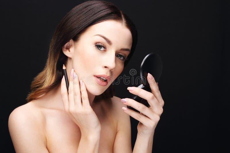 Wargi makeup fotografia stock